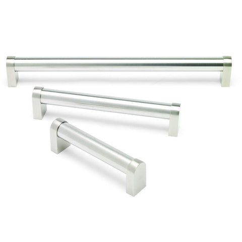 TUBULAR, Boss Handle in Brushed Nickel, 3 Sizes Available, Handles - Kitchen Suppliers Online