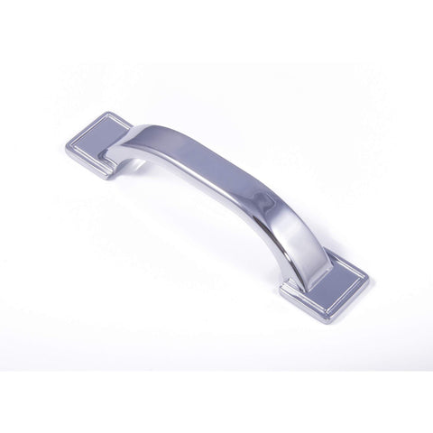 WINDSOR, 'D' Handle in Chrome or Brushed Nickel, Handles - Kitchen Suppliers Online