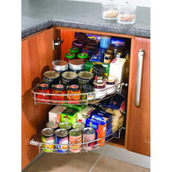 1/2 carousel Wire set, to suit 900mm or 1000mm wide cabinet, Storage - Kitchen Suppliers Online