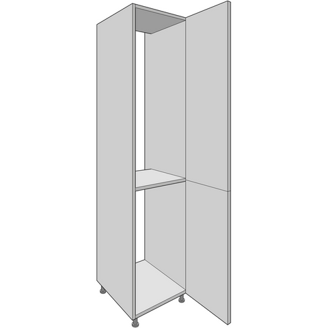2150mm High Tall Fridge/Freezer Housing with Fixed Shelf, Kitchen Cabinets - Kitchen Suppliers Online
