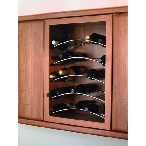 4/5/6 bottle capacity curved wine rack, to suit 400mm to 600mm wide wall unit, Storage - Kitchen Suppliers Online