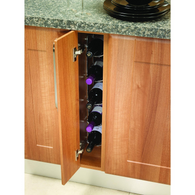 5 bottle capacity fixed wine rack, to suit 150mm wide base unit, Storage - Kitchen Suppliers Online