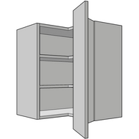 575mm High L-Shaped Wall Unit, 300mm Depth, Kitchen Cabinets - Kitchen Suppliers Online