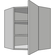 720mm High Diagonal Wall Corner Unit, 300mm Depth, Kitchen Cabinets - Kitchen Suppliers Online