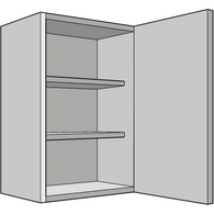 720mm High, Standard Wall Unit, Single 330mm Depth, Various Widths, Kitchen Cabinets - Kitchen Suppliers Online