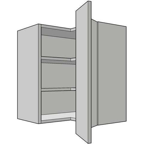 900mm High L-Shaped Wall Unit, 300mm Depth, Kitchen Cabinets - Kitchen Suppliers Online