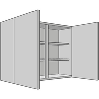 900mm High Tall Wall Unit, Double, 330mm Depth, Various Widths, Kitchen Cabinets - Kitchen Suppliers Online