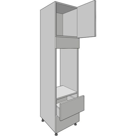 Appliance Housing Tower 2150mm High, Standard Drawer, 900mm Aperture, Kitchen Cabinets - Kitchen Suppliers Online