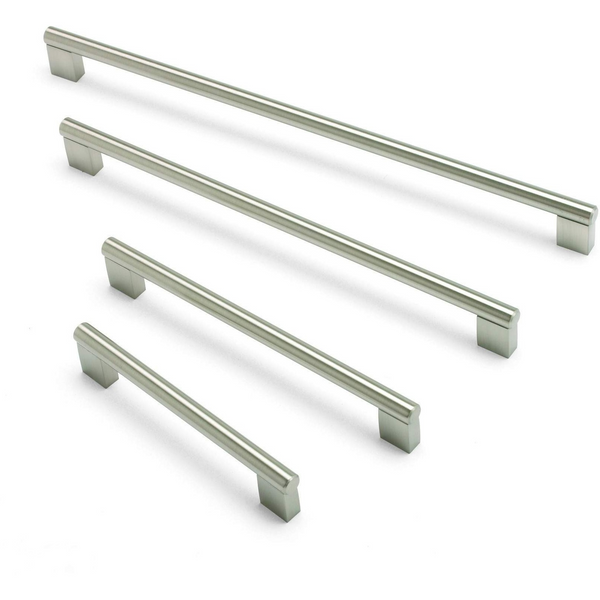 ARIES, Bar Handle in Brushed Nickel, 11 Sizes Available, Handles - Kitchen Suppliers Online