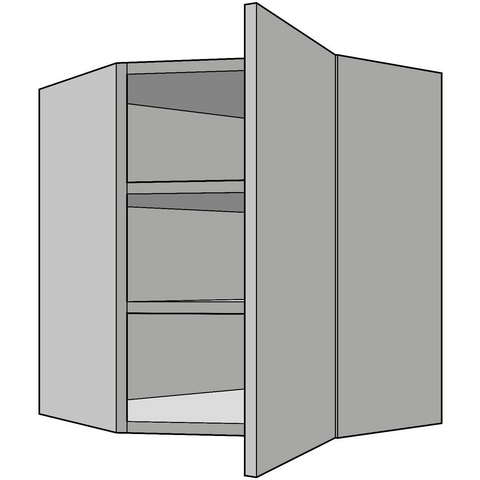 720mm High Diagonal Wall Corner Unit, 330mm Depth, Kitchen Cabinets - Kitchen Suppliers Online