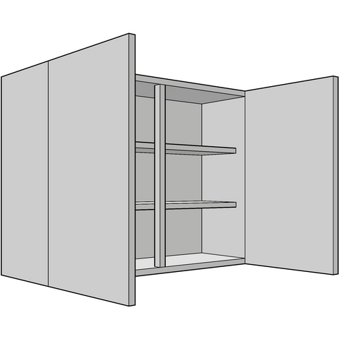 720mm High Standard Wall Unit, Double, 330mm Depth, Various Widths, Kitchen Cabinets - Kitchen Suppliers Online