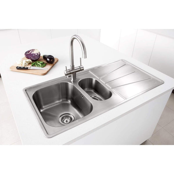 Blaze 150 - Inset with Drainer, Sinks - Kitchen Suppliers Online