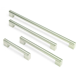 BLOCK 'T' BAR, Bar Handle in Brushed Nickel, 9 Sizes Available, Handles - Kitchen Suppliers Online