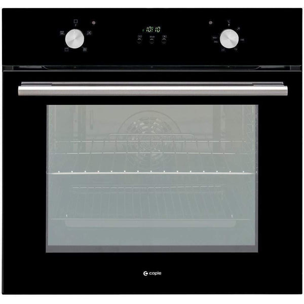 Caple C2233BK Black Glass Single Oven, Appliance - Kitchen Suppliers Online