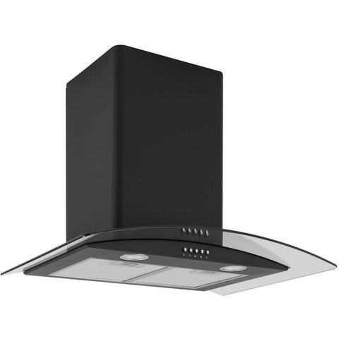 Caple CGC710BK Wall Chimney Hood Width 700mm, Appliance - Kitchen Suppliers Online