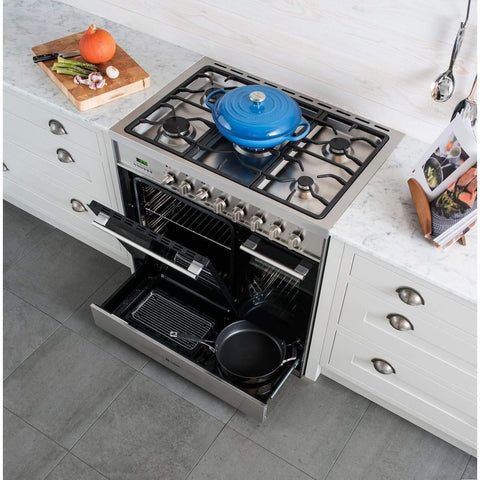 Caple CR9209 Dual Cavity Dual Fuel Range Cooker - 900mm, Appliance - Kitchen Suppliers Online