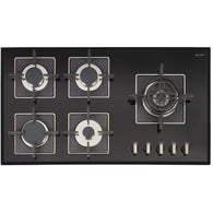 Caple SENSE PREMIUM C880GBK Gas on Glass Hob, Appliance - Kitchen Suppliers Online