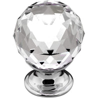 CLARITY, Knob in Chrome / Crystal, 4 Styles Available, Handles - Kitchen Suppliers Online