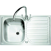 Crane Utility Room Stainless Steel Single Bowl Sink and Drainer, Sinks - Kitchen Suppliers Online