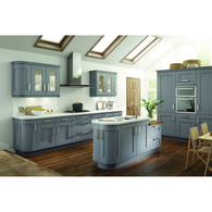Hoxton 'Arlington' - Cornice Radius Profile Top Section, Complete Kitchen Cabinets - Kitchen Suppliers Online