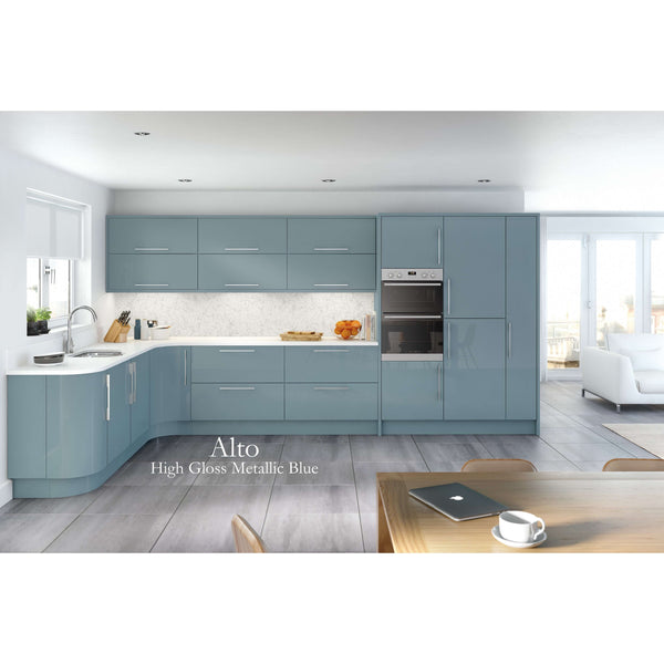 ALTO High Gloss - Modern Combination Cornice/Pelmet 30mm x 75mm x 3000mm, Kitchen Doors - Kitchen Suppliers Online