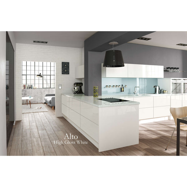 ALTO High Gloss - 3 Metre Plinth in 3 Widths - Edged 2 Sides, Kitchen Doors - Kitchen Suppliers Online