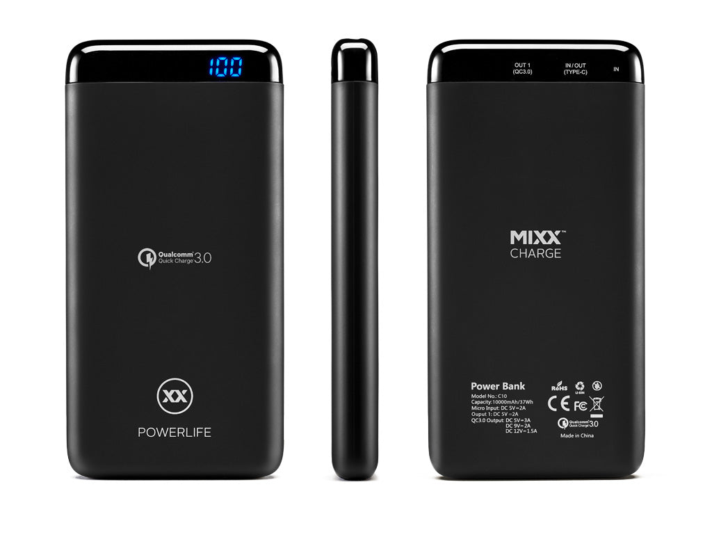 C10 10000mAh power bank technical specifications