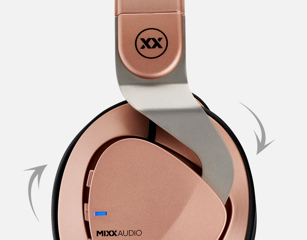 JX2 wireless headphones with tilting ear pads