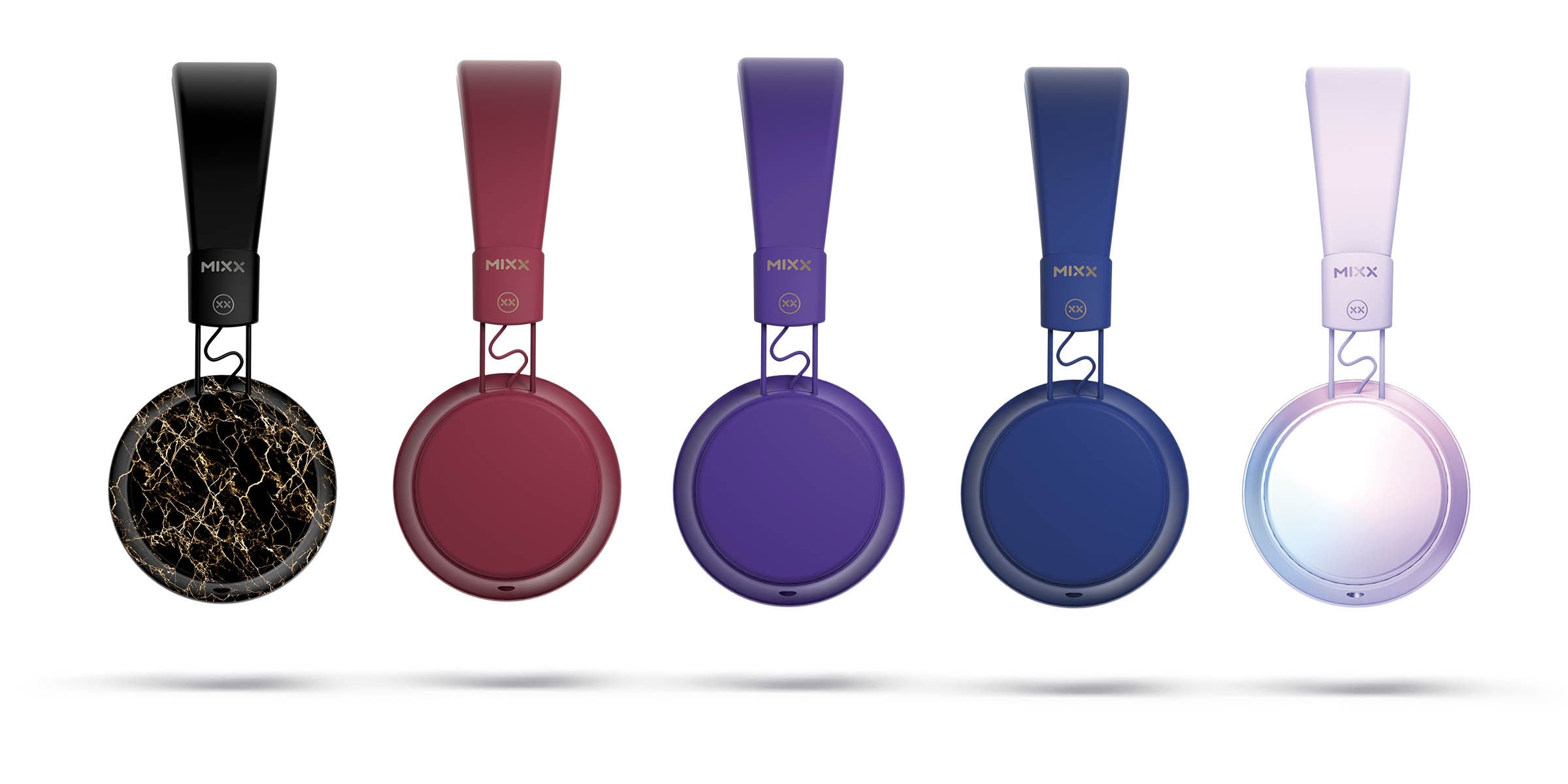 OX1 on ear headphones colour options