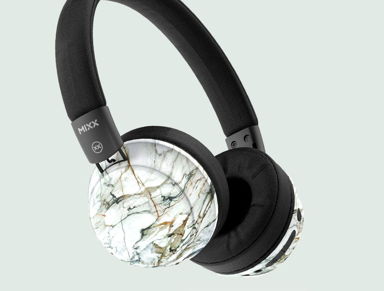 OX2 wireless headphones in marble