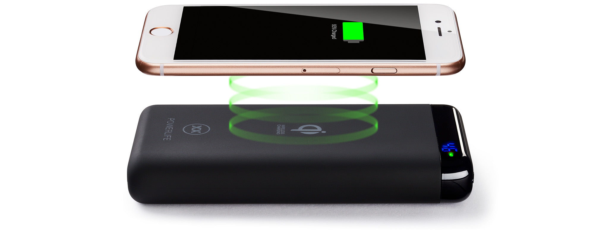 Qi10 wireless power bank for iPhone 8, X, Xs, Xr