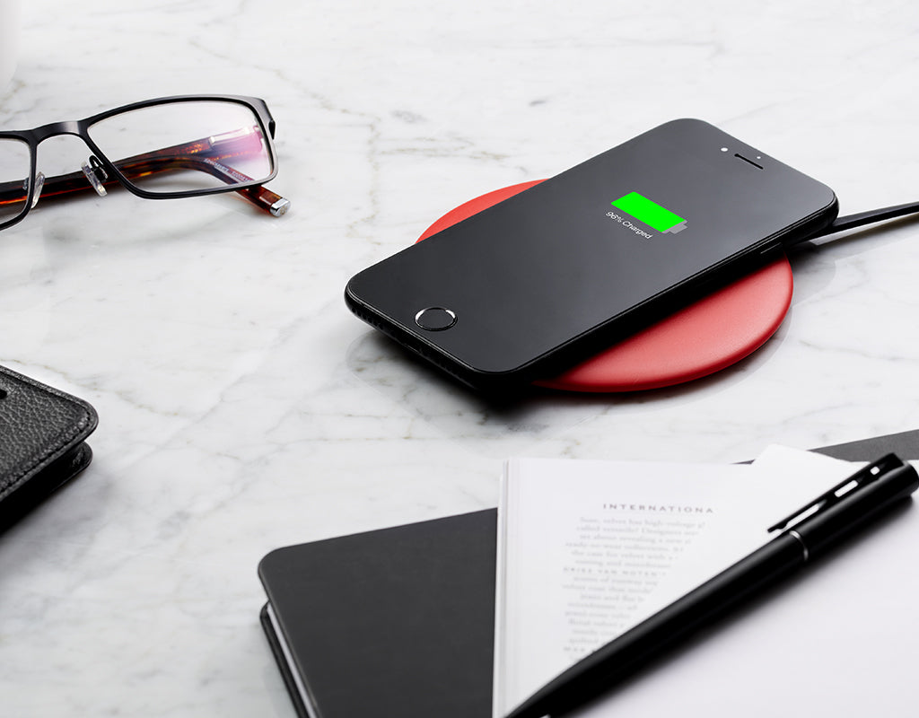 Chargespot wireless charger charging iPhone X