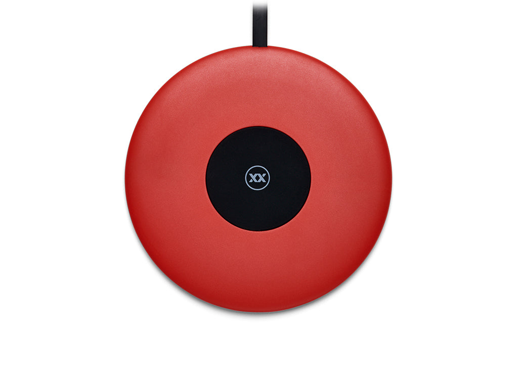 Chargespot wireless charger in red