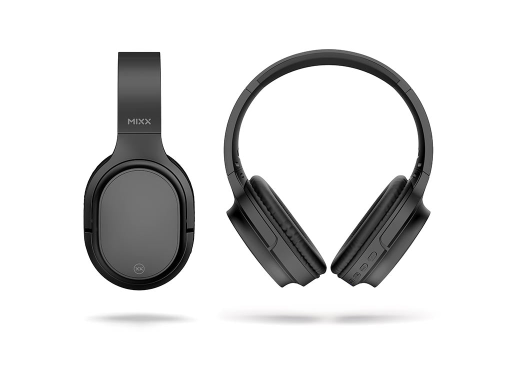RX1 bluetooth headphones front and side views