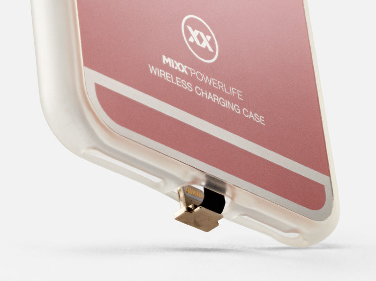 Wireless charging case with protective bumpers