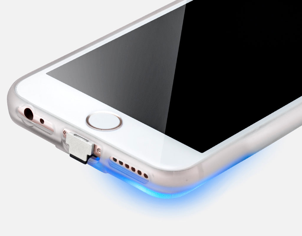 Chargecase wireless charging phone case LED light