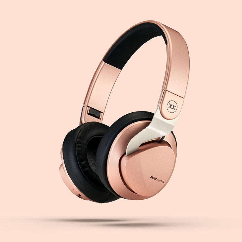 JX2 wireless headphones in rose gold
