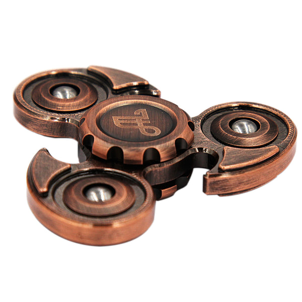 Fidget Spinner Metal, Alquar Ancient Eagle Pure Copper Tri Hand Spinner, Exclusive Professional Bearing Quiet Smooth Spin, Luxury Woodon Gift Box Set