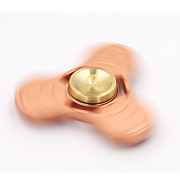 Fidget Spinner Metal, Alquar-Clover Pure Copper Tri Hand Spinner, Exclusive Professional Bearing Quiet Smooth Spin