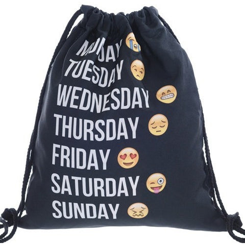 Emoji Drawstring Bag - Viral Gifts