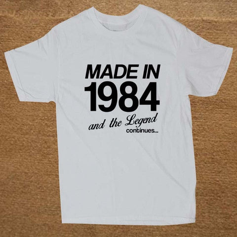 Made In 1984 T Shirt Mens - Viral Gifts