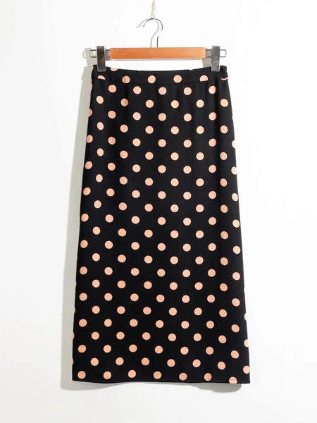 80s polka dot skirt for women