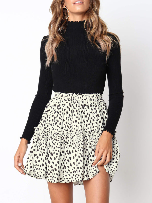 City To City Animal Print Mini Skirt