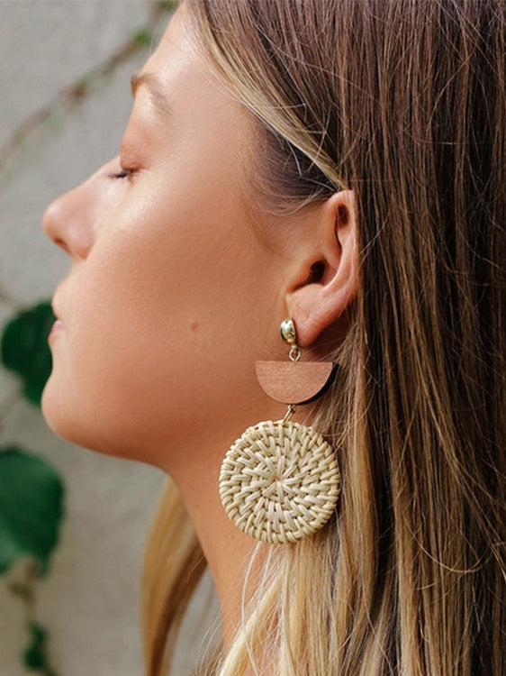 The Boho Way Straw Earrings