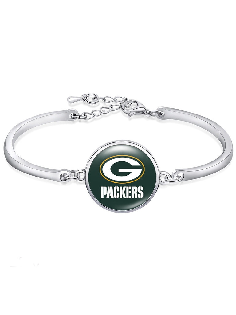 Green Bay Packers High-Polish Bracelet NFL bracelet football wristband football bangle