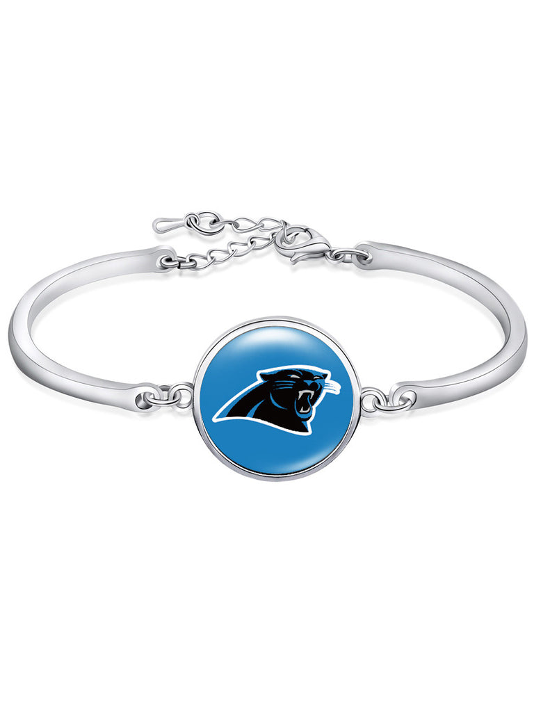 The Carolina Panthers High-Polish Bracelet NFL bracelet football wristband football bangle