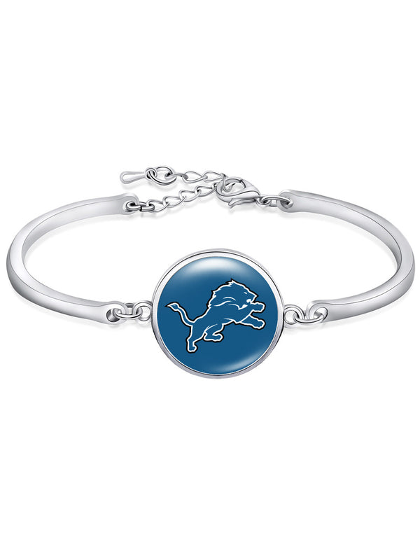The Detroit Lions High-Polish Bracelet NFL bracelet football wristband football bangle