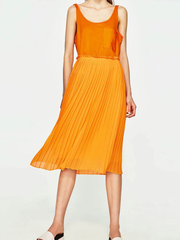 Rock Candy Pleat Midi Skirts