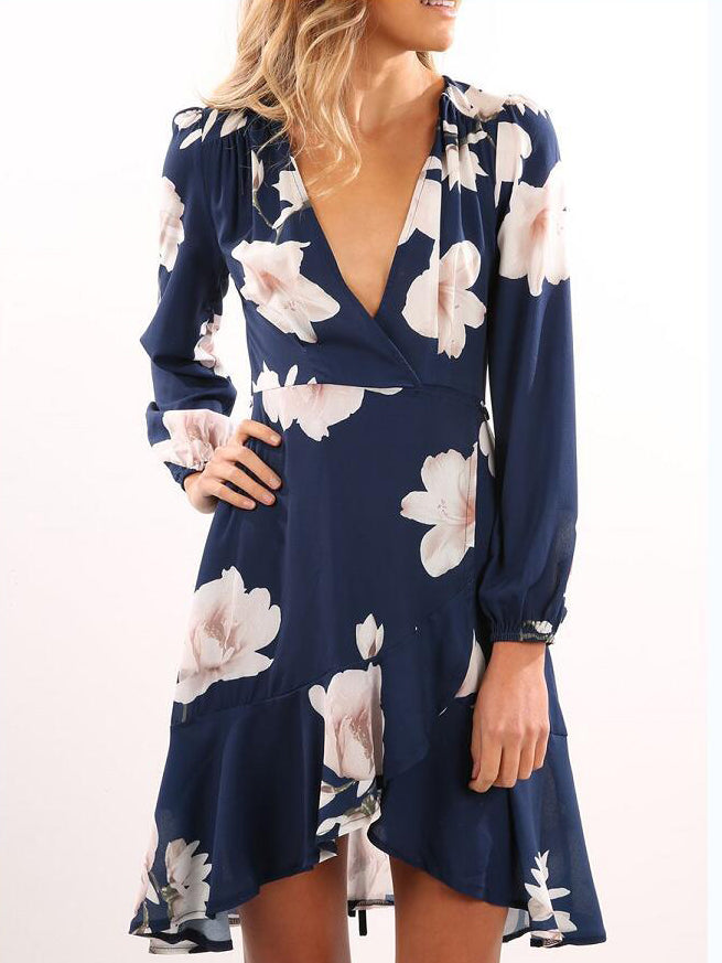 be45788973bb Easy Street Floral Plunging Neck Mini Dress – INXCY