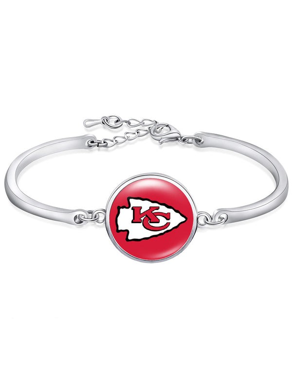 The Kansas City Chiefs High-Polish Bracelet NFL bracelet football wristband football bangle